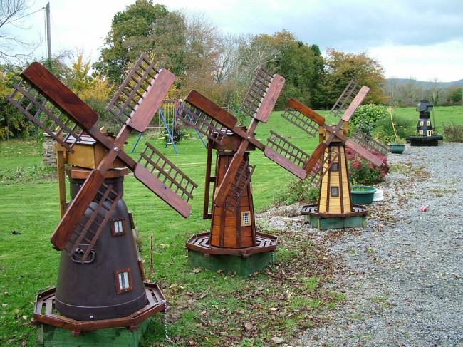 Садовые мельницы с красивыми декоративными крыльями