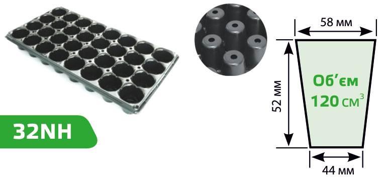 Виды кассеты для рассады 42