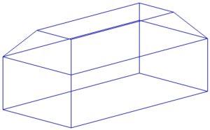 Отдельная прямоугольная со скосом