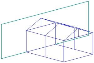 Пристройка с двухскатной крышей