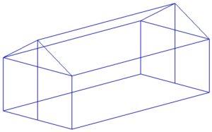 Отдельная с двухскатной крышей
