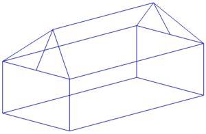 Отдельная с пирамидальной крышей