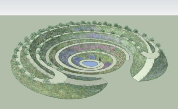 Кратерный сад - базовый элемент пермакультуры