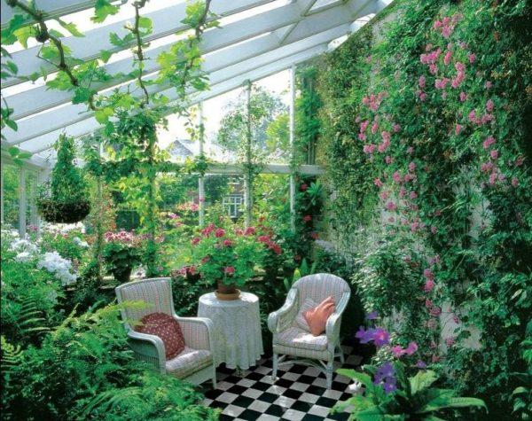 Зимний сад в частном доме